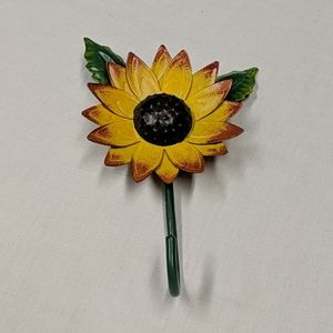 Vintage Sunflower coat hook
